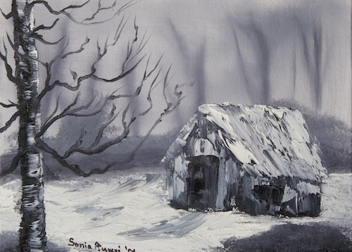 Winter Hunting Cabin copy
