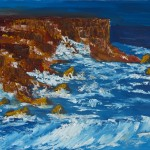 Stormy Seas Against Rocky Shores