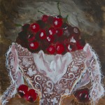 White Lace in a Cherry Bowl