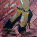 noir gold heels